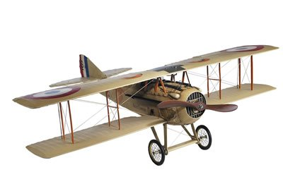 French Spad XIII - Authentic Bi-Plane Model - Features Handmade Fabric-Covered Frame - Original Detailing - Authentic Models AP413F