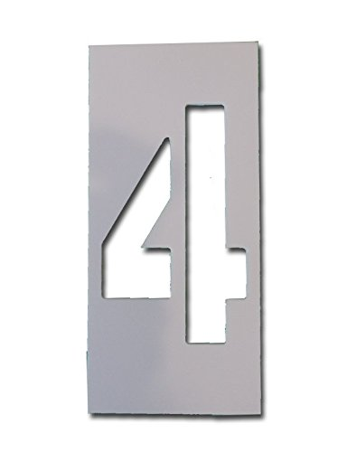 # 4, Individual Curb Painting Stencil, 4in number, flexible (Stencil 4 Signs)