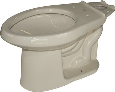(Gerber Avalanche Siphon Jet Toilet Bowl, Elongated, 1.6 Gpf/1.28 Gpf, Biscuit)