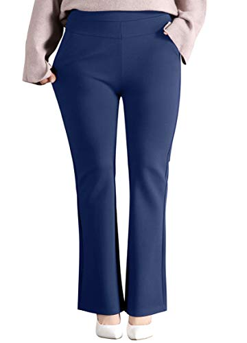 ABCWOO Women's Plus Size Dressy Work Pants for Office,Slimming and Stretchy 16