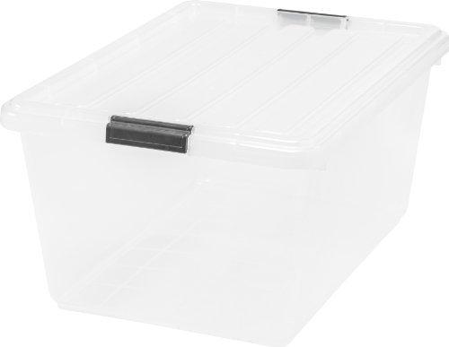 IRIS 44 Quart Buckle Down Storage Box, 6 Pack