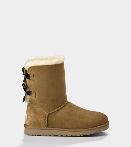 Ugg W Bailey Bow Women Boots Chestnut 1002954 CHE (SIZE: -