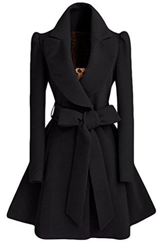size 40 64917 e708c WanYang Damen Trenchcoat Wintermantel Parka Revers Lang Schlank Mantel  Collegejacke Warme Winterjacke Outwear Elegant Herbst Winter