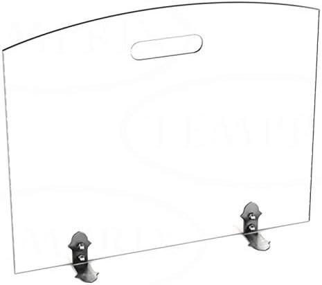 540/x 600/x 6/mm BxHxT Chimenea Horno rejilla protectora Cristal Protecci/ón contra chispas Chispas rejilla de protecci/ón Seguridad Temprix