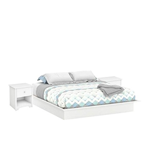 Home Square 3 Piece Bedroom Set with King Platform Bed and
