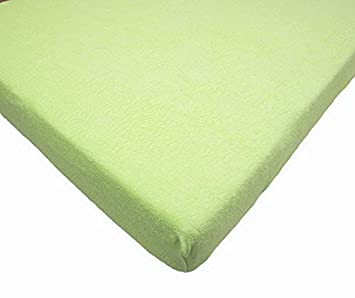 120 x 60 cm Cot, Red Terry Fitted Sheet for Toddler Baby Cot Bed or Crib Towelling Mattress Cover