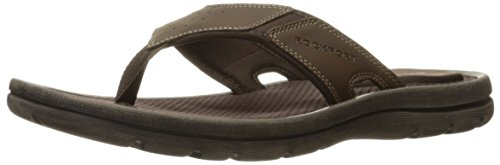 Rockport Men's Get Your Kicks New Thong Flip Flop - Dark ...