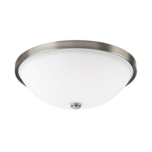 (Capital Lighting 2323AN-SW Covington 2-Light Flush Mount, Antique Nickel Finish with Soft White)