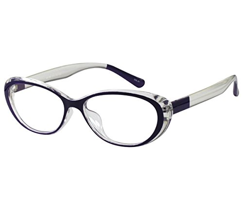 EyeBuyExpress Reading Glasses Women Cat Eye Violet Unique +5.00 by EyeBuyExpress
