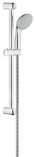 Grohe Tempesta 100, Brausestangenset 600mm, 2 Strahlarten, feste Bohrlöcher zur Befestigung, chrom