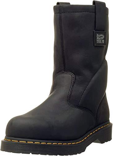 Dr. Martens, Men's Icon 2295 Steel Toe Heavy Industry Boots, Black, 14 XW US