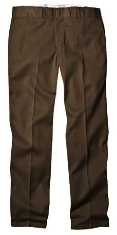 Dickies Men's Original 874 Work Pant, Dark Brown, 30W x 30L