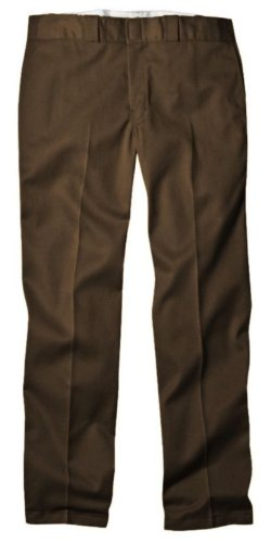 Dickies Mens Original 874 Work Pant, Dark Brown, 34x32