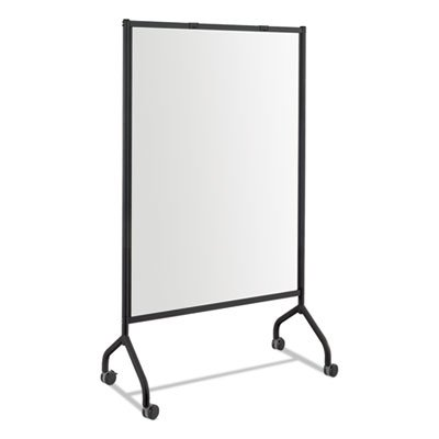 SAFCO PRODUCTS * Impromptu Magnetic Whiteboard Collaboration Screen, 42w x 21 1/2d x 72h, Black, Sold as 1 Each