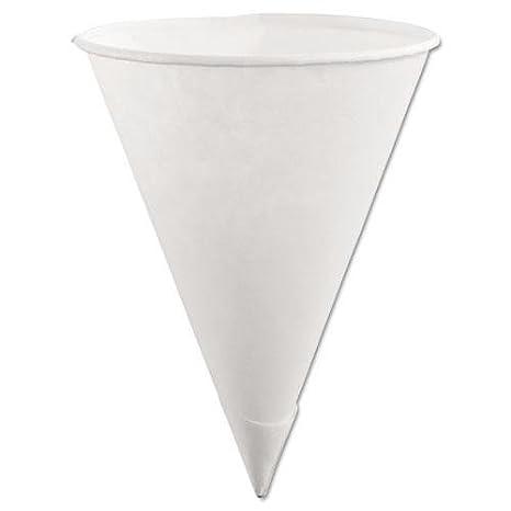Cono de papel tazas, 170 g, Blanco, 200/paquete, 12 paquetes ...