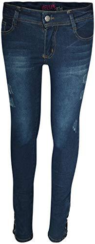 dELiAs Girls Soft Stretch Skinny Distressed Jeans, Dark Lace up, Size 12'