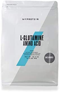 Myprotein L-Glutamine Unflavored Powder, Unflavored Glutamine Powder, Pure Glutamine Powder, Amino Acid Unflavored Glutamine, Pure L-Glutamine Supplement, 2.2 lbs Unflavored, 200 Servings