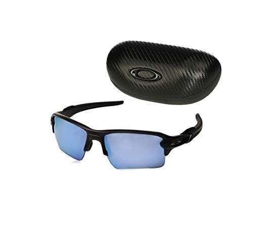Oakley Prizm Deep H2O Polarized (Matte Black) with Oakley Ellipse O Case Sunglasses (Oakley Prizm Sonnenbrille)