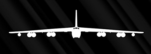 CRDesign B 52 B52 Stratofortress Bomber Air Force White Sticker Decal Car Truck SUV Window Wall MacBook Notebook Laptop Sticker Decal