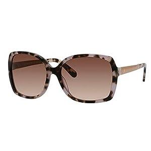 Kate Spade Women's Darilynn Square Sunglasses, Tortoise Lavender & Brown Gradient, 58 mm