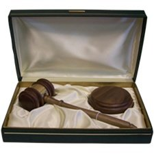 11'' American Walnut Chairman Presentaion Gavel Set by LegalStore