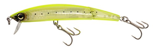 Yo-Zuri Crystal 3D Minnow Jointed Floating Lure, Chartreuse Silver, 5-1/4-Inch