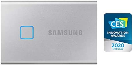 Samsung T7 Touch Portable SSD - USB 3.2 Gen.2 SSD Externo Plateado ...