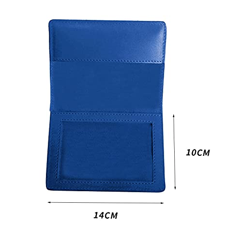 Pinkpaopao Leather Certificate Protective Cover, Vaccination Certificate Protective Cover for Elder and Kids Multifunctional Moisture-Proof Protective Cover