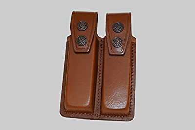 K003 Leather Double Magazine Pouch/carrier/case for Colt 1911 Handmade!