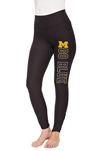 Concept Sport Michigan Wolverines Womens NCAA Team Logo Leggings - Black, Womens Large