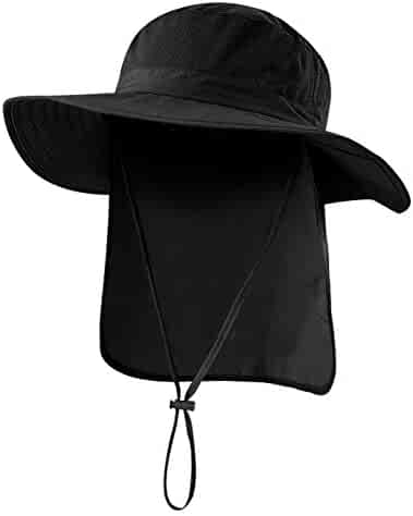 3dc0dbe380d37 Home Prefer Outdoor UPF50+ Mesh Sun Hat Wide Brim Fishing Hat with Neck Flap
