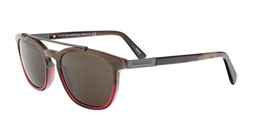 Ermenegildo Zegna EZ0044/S 65J Burgundy Square Sunglasses for - Couture Zegna