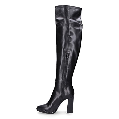VIOZZI Boots GIAMPAOLO Black RU0173B Leather Women's UqxPgx8wd