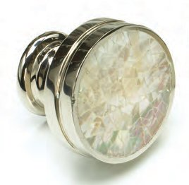 - Schaub Mother of Pearl Collection 1-3/8 in. (35mm) Knob, Polished Nickel - 990-MOP/PN