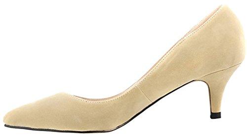 Calaier Ladies Cacanada 3cm Stiletto Slip On Pumps Scarpe Avorio