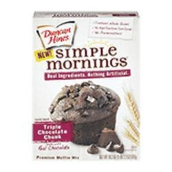 Duncan Hines Simple Mornings Triple Chocolate Chunk Muffin Mix 18.2 oz (Pack of 2)