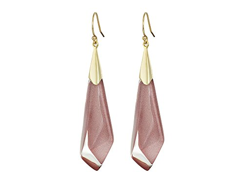 Alexis Bittar Faceted Wire Pink Poppy Drop Earrings