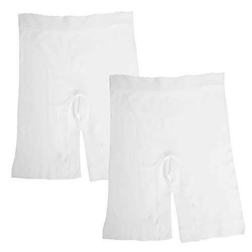 Jockey (2 Pack Womens Shorts for Under Dresses Slip Shorts for Women Biker Shorts Seamless Undergarment White