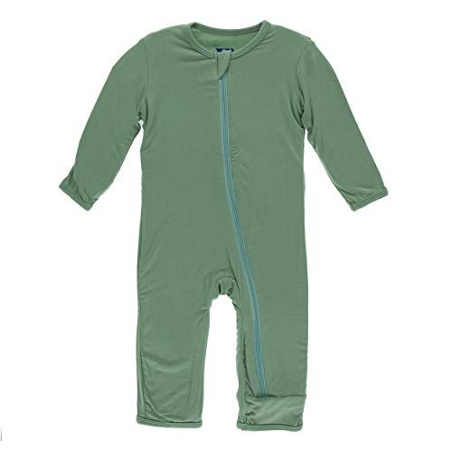 - Kickee Pants Little Boys Solid Coverall with Zipper - Shore, 5 Years