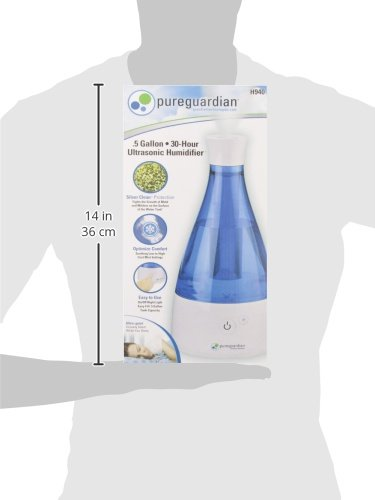 PureGuardian 6L Output per Day Ultrasonic Cool Mist Humidifier, Baby Room, Nursery Humidifier, Portable Humidifier, Travel Humidifier, Small Humidifier, Desk Humidifier, Pure Guardian H940 by Guardian Technologies (Image #8)