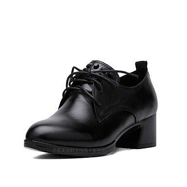 Nouveauté Chaussures Décontracté ggx Printemps black Automne Nouveauté LvYuan à Femme Chaussures Chaussures Vrai cuir formellesLacet formelles Talons wXnC6qnd7