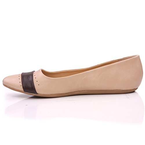 Beige Chic Womens Shoes Slipon Unze Flat Pier' Pumps qPH68Z