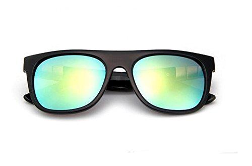 black de gafas de tendencia sol sol de Bright LSHGYJ Moda gold de brillante gafas color sol gafas retro GLSYJ gafas wXgqfxU