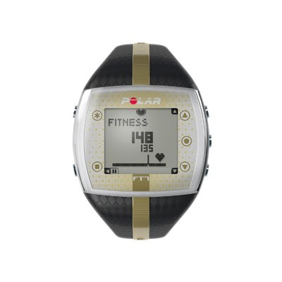 Heart Rate Monitor Watch - Polar_ FT7F - Black/Gold - for Female