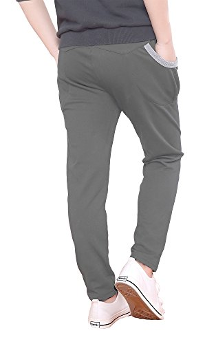 Dasnh Boy's Kids Cotton Slim Fit Adjustable Waist Jogger Pants Trousers With Two Big Pockets,8,Grey A by Dasnh (Image #2)