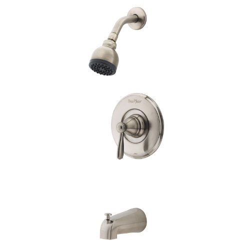 Pfister Portland 1-Handle Tub & Shower Trim in Brushed Nickel - Chrome Portland Single Handle