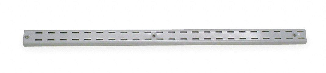 Steel Double Slotted Standard, Powder Coated Finish, White, 1-1/4''W x 1/2''D x 84''H