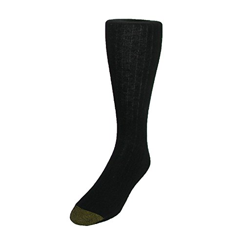 Gold Toe Wool Socks - Gold Toe Men's Edinburgh Merino Wool AquaFX Dress Socks (Pack of 3), Black