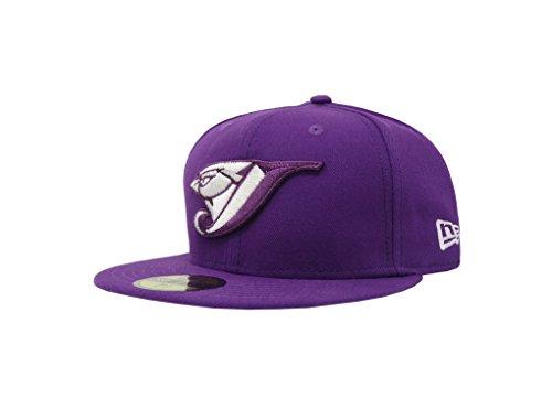 New Era 59Fifty Hat Toronto Blue Jays MLB Basic Major League Purple Fitted Cap (7 5/8) (Purple New Era)