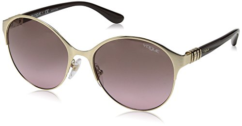 VOGUE Women's Metal Twist Collection Round Sunglasses, Pale Gold, 55 - Couture Haute Sunglasses